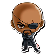 Avengers Nick Fury Chibi Funky Chunky Magnet