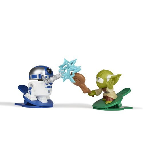 Star Wars Battle Bobblers Showdowns R2-D2 vs. Yoda Bobble Heads