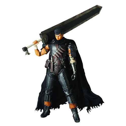 Berserk Guts Black Swordsman Version Real Action Hero Action Figure