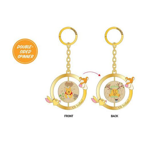 Winnie the Pooh Double-Sided Spinner Enamel Key Chain