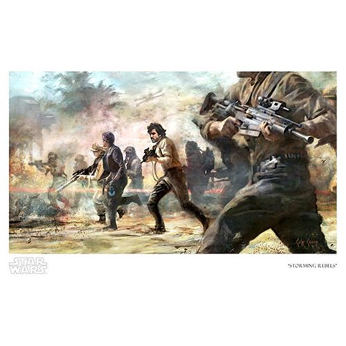 Star Wars Storming Rebels by Cliff Cramp Paper Giclee Art Print