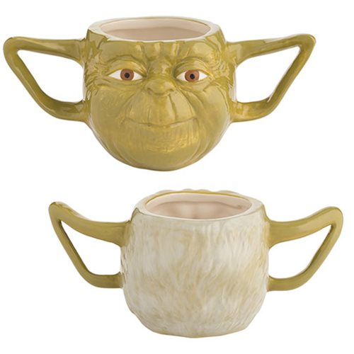 Star Wars Yoda 16 oz. Premium Sculpted Ceramic Mug
