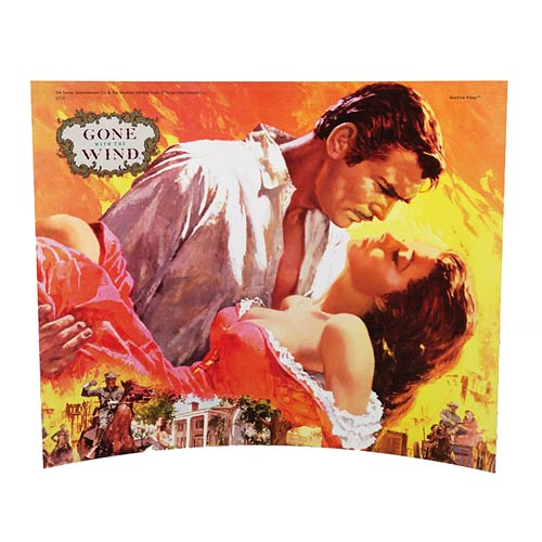 Gone with the Wind Rhett Holding Scarlett Glass Photo