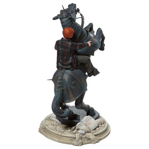 Harry Potter Ron Weasley on Chess Horse Statue
