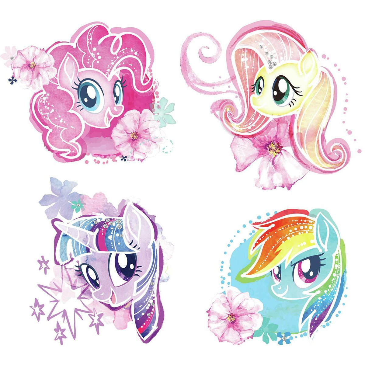 Wall Decal My Little Pony The Movie Watercolor Peel//Stick
