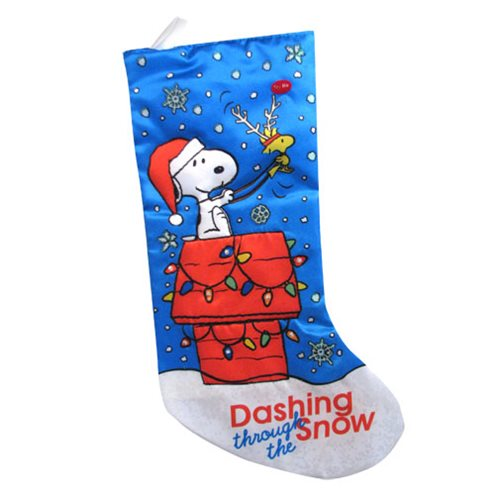 Peanuts Snoopy Dog House 19-Inch Light-Up Stocking