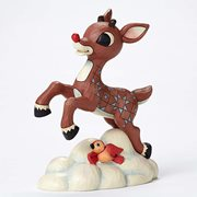 Rudolph the Red-Nosed Reindeer Rudolph Flying Above Clouds Statue by Jim Shore