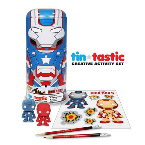 Iron Man 3 Movie Iron Patriot Tin-Tastic Pencil Set with Tin