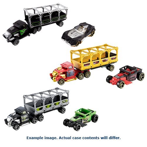 Hot Wheels Trackin' Trucks Vehicles Case