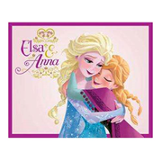 Disney Frozen Elsa and Anna Hugging Stretched Canvas Print