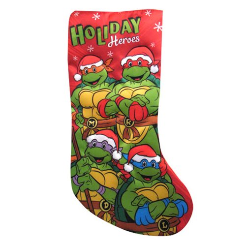 Teenage Mutant Ninja Turtles Retro 19-Inch Applique Stocking