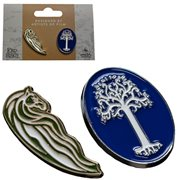 Lord of the Rings Rohan Horse and White Tree of Gondor Collectible Pin Set