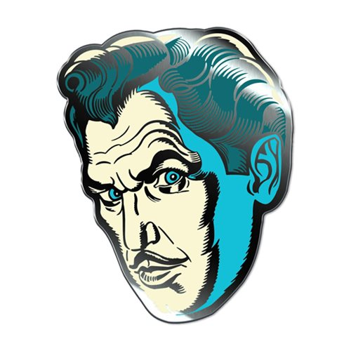 Vincent Price Phosphorescent Pallor Enamel Pin