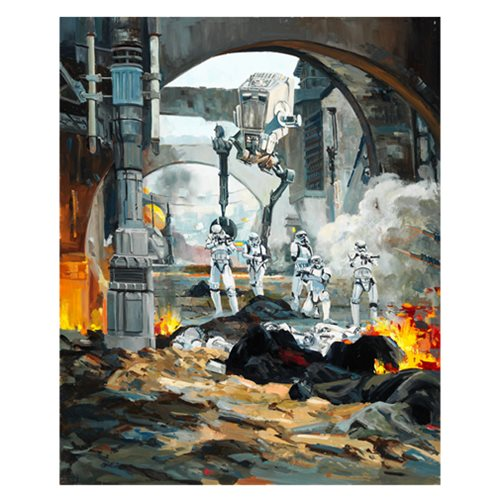 Star Wars Danger Around the Corner by Line' Tutwiler Canvas Giclee Art Print