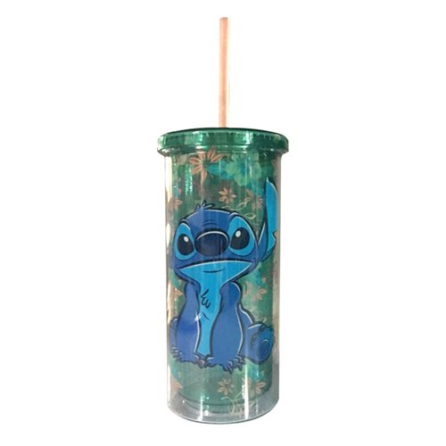 Lilo & Stitch Tropical Stitch 20oz Plastic Tall Cold Cup with Lid and Straw