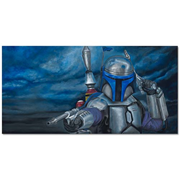 Star Wars Jango Fett Merciless Canvas Giclee Print