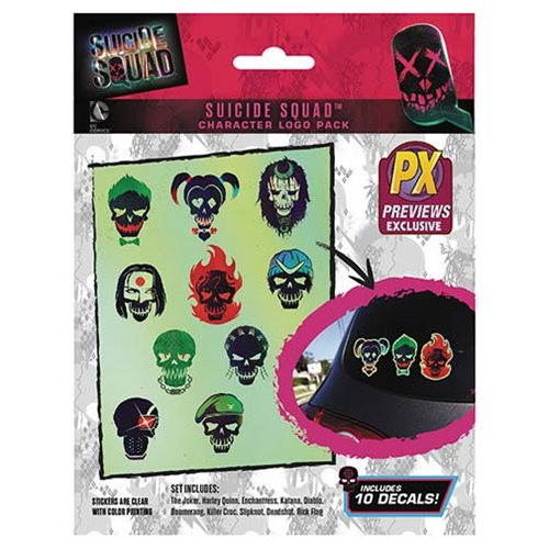 Suicide Squad Icon Chara Decal 10-Pack - Previews Exclusive