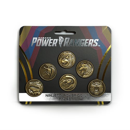 Power Rangers Ninjetti Power Coin Die-Cast Pin Set