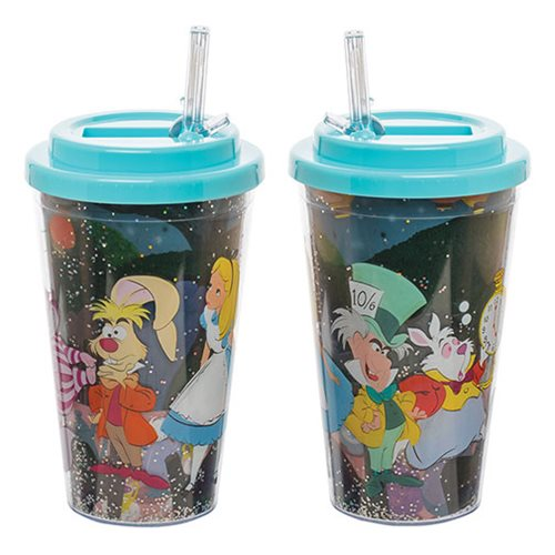 Alice in Wonderland 16 oz. Flip-Straw Acrylic Cup