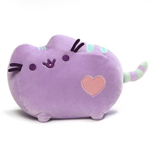 Pusheen the Cat Purple Pastel Heart Plush