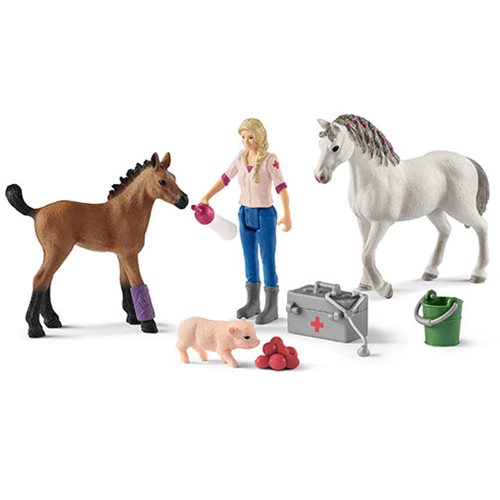Farm World Vet Visiting Mare and Foal Playset