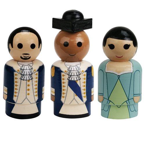 Hamilton, Washington, and Eliza Pin Mates Collectibles