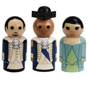 Hamilton, Washington, and Eliza Pin Mates Wooden Collectibles 3-Pack