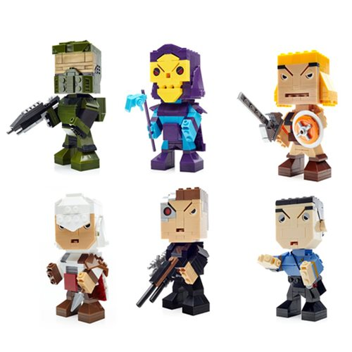 Mega Bloks Kubros 8-Bit Building Figure Wave 1 Set