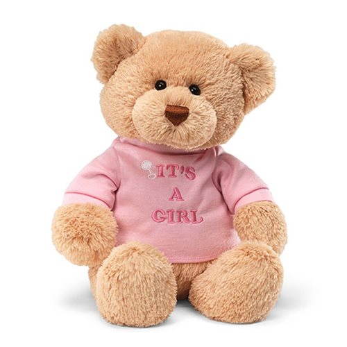 T-Shirt Bear It's a Girl 12-Inch Plush