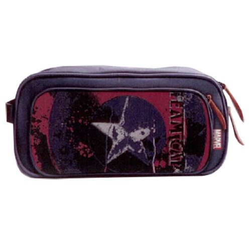 Marvel Comics Civil War Legend Captain America  Canvas Toiletry Bathroom Bag