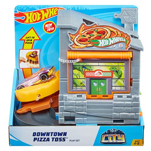 Hot Wheel City Downtown Pizza Toss Playset
