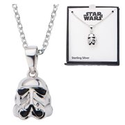 Star Wars Stormtrooper 3D Sterling Silver Pendant Necklace