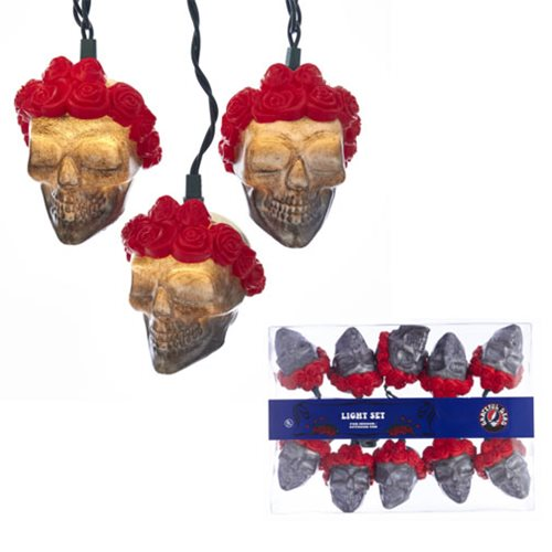 Grateful Dead Skull with Wreath Light Set