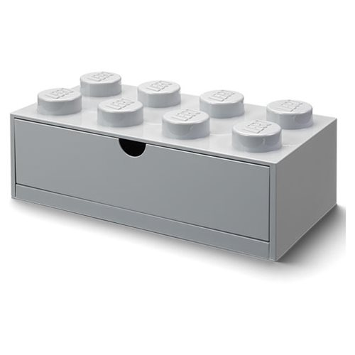 LEGO Gray Desk Drawer 8 Storage Box