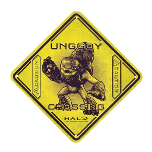 Halo Unggoy Crossing Tin Sign