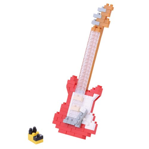 Red Electric Guitar Nanoblock Constructible Figure