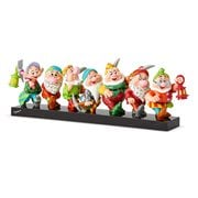 Disney Snow White Seven Dwarfs on Log Statue by Romero Britto