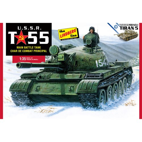 USSR T-55 Main Battle Tank 1:35 Scale Model Kit
