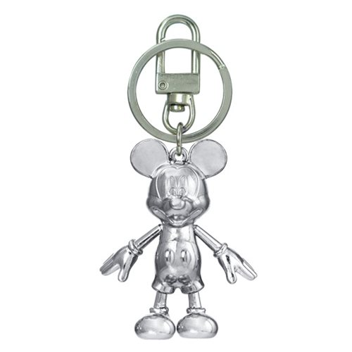 Mickey Mouse April Diamond Pewter Dangle Key Chain