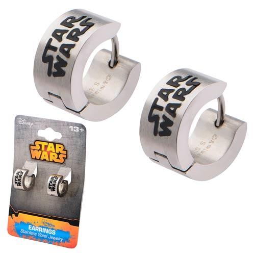 Star Wars Logo Stainless Steel Huggie Earrings