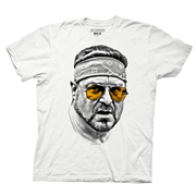 Big Lebowski Walter Orange Glasses White T-Shirt
