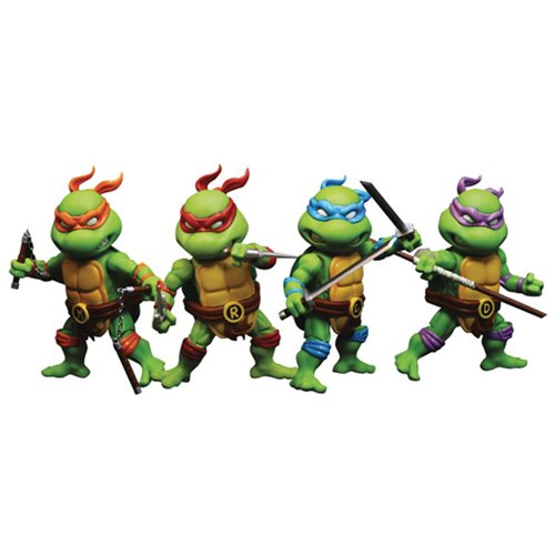 Teenage Mutant Ninja Turtles Mini Hybrid Metal Figuration-302 4-Pack Action Figure Set