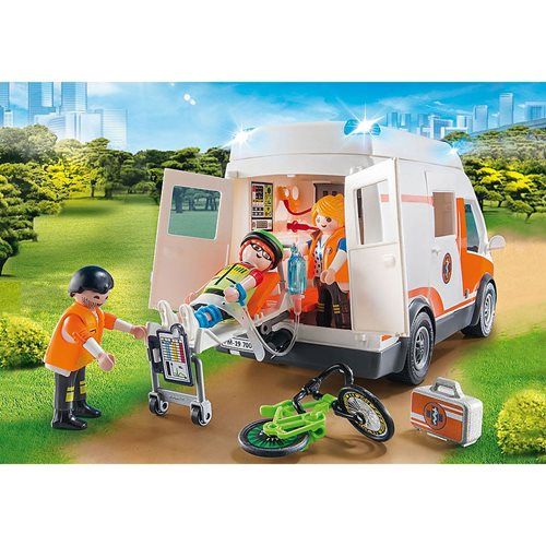 Playmobil 70049 Rescue 911 Ambulance with Flashing Lights
