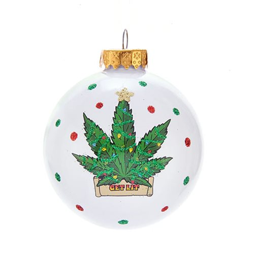 Cannabis 80 mm Ball Ornament