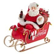 Coca-Cola Santa in Sleigh 10-Inch Table Piece