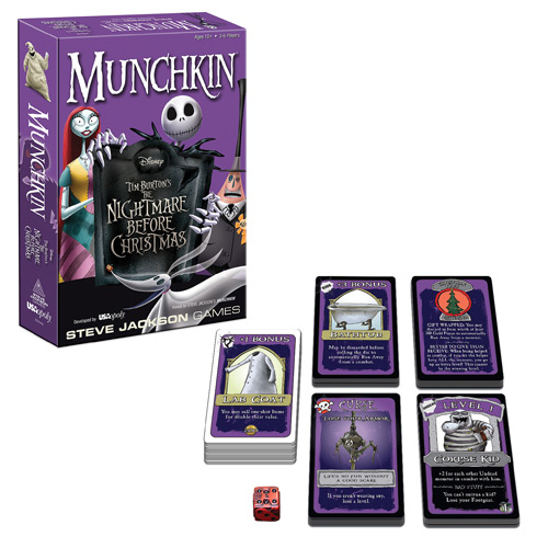 the nightmare before christmas munchkin card game - Christmas Card Games