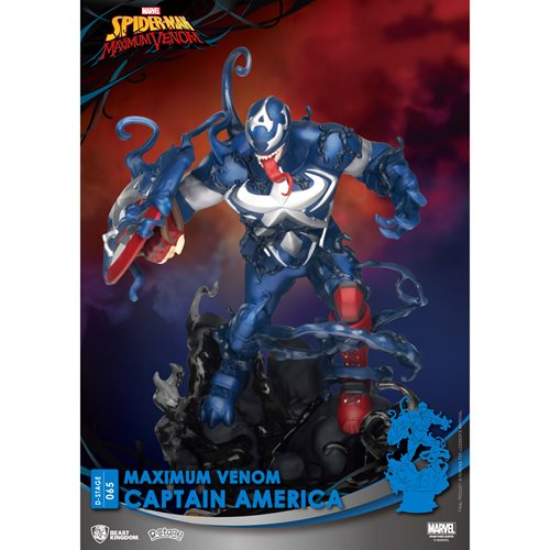 Maximum Venom Captain America D-Stage DS-065 6-Inch Statue