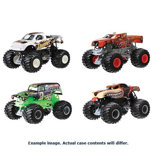 Hot Wheels Monster Jam 1:24 Scale 2018 Wave 4 Case