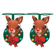 Rudolph the Red-Nosed Reindeer with Wreath Light Set