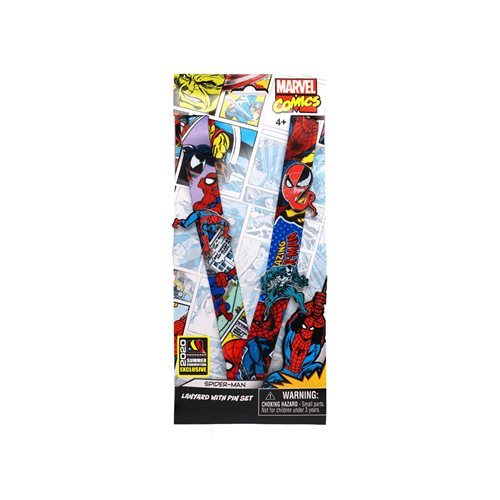 Spider-Man Classic Lanyard and Pin Set - San Diego Comic-Con 2020 Exclusive